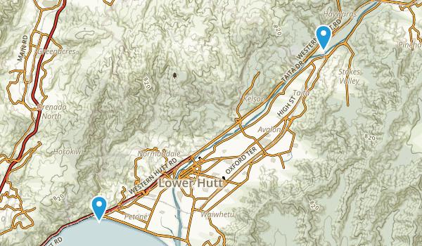 Lower Hutt, Wellington Region Map