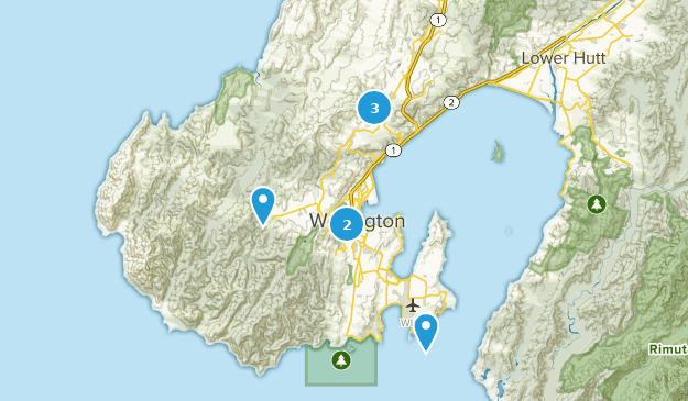 Wellington, Wellington Region Map