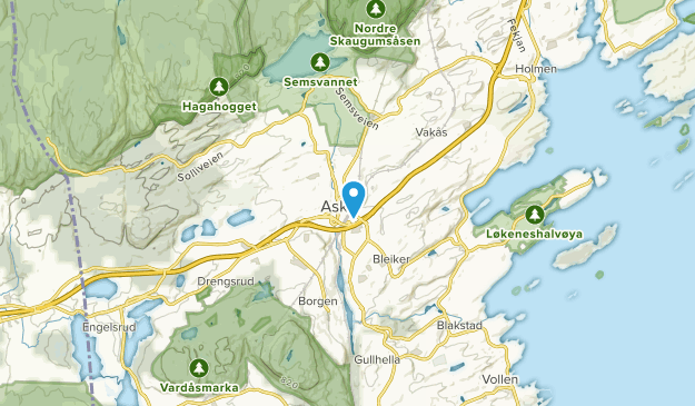 Asker, Akershus Map