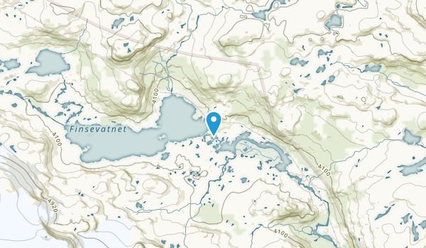 Finse, Hordaland Map