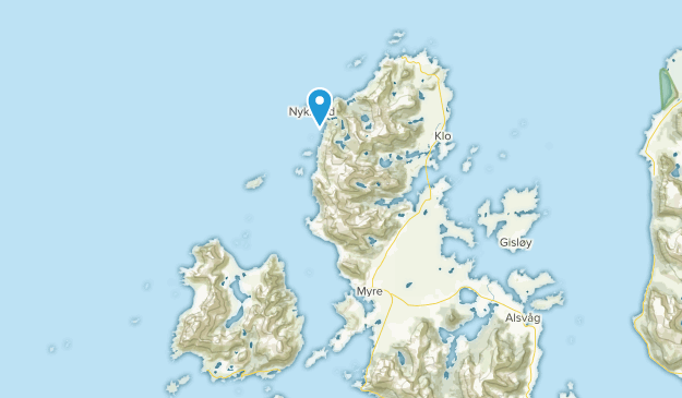 Øksnes, Nordland Map