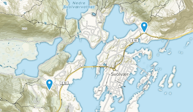Vågan, Nordland Map