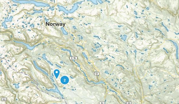 Bjørnhovd, Oppland Map