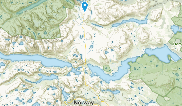 Øystre Slidre, Oppland Map