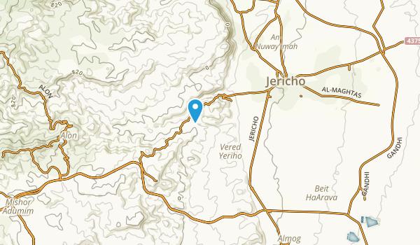 Jericho, West Bank Map