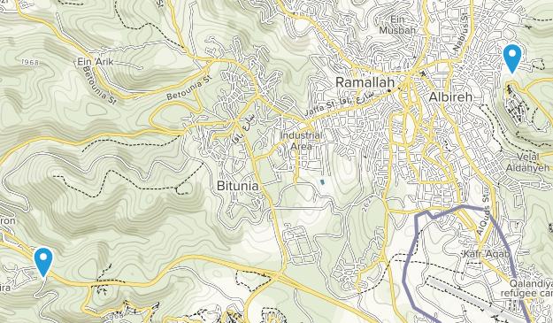Ram Allah, West Bank Map