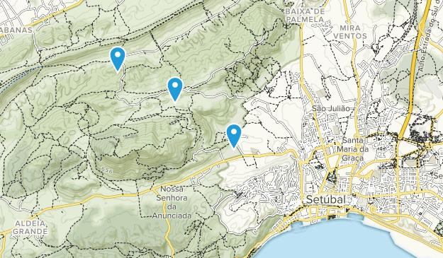 Setúbal, Alentejo Map