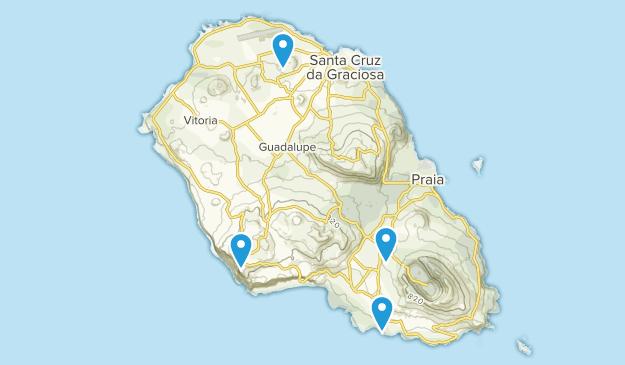 Santa Cruz da Graciosa, Azores Map