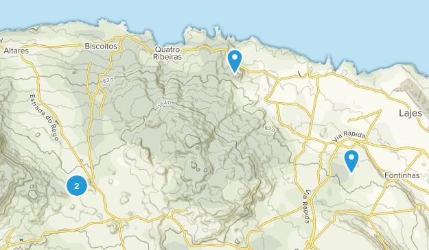 Vila da Praia da Vitória, Azores Map