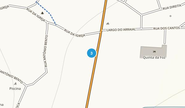 Foz do Arelho, Leiria Map