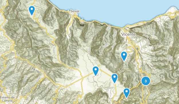 Senhora do Rosário, Madeira Island Map
