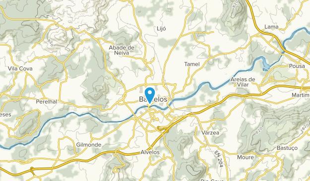 Barcelos, Porto and the North Map