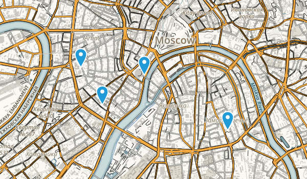 Arbat District, Moscow Map