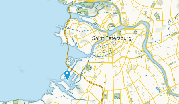 Vasileostrovskiy, Saint Petersburg Map