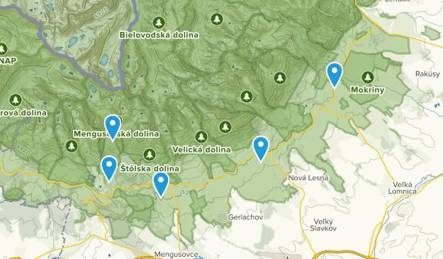 Vysoké Tatry, Prešovský kraj Map