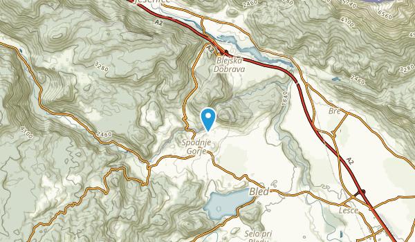 Vintgar, Bled Map