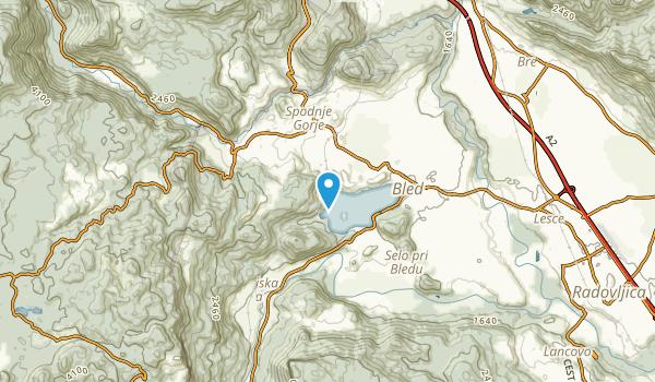 Višelnica, Bled Map