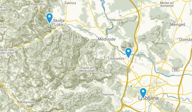 Ljubljana, Ljubljana Map