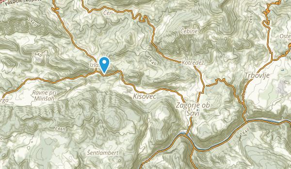 Zagorje ob Savi, Zasavska Map