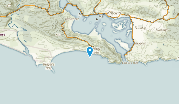 Brenton-on-Sea, Western Cape Map