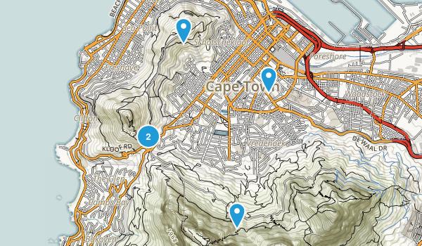 Cape Town, Western Cape Map
