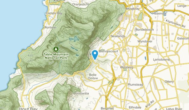 Constantia Heights, Western Cape Map