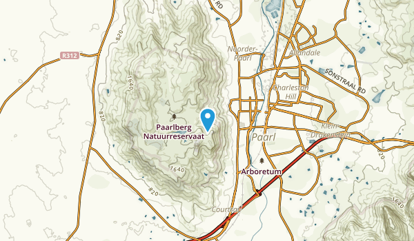 Paarl, Western Cape Map