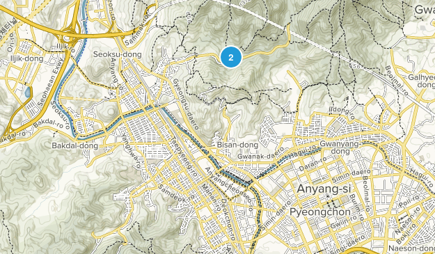 Anyang-si, Gyeonggi-do Map