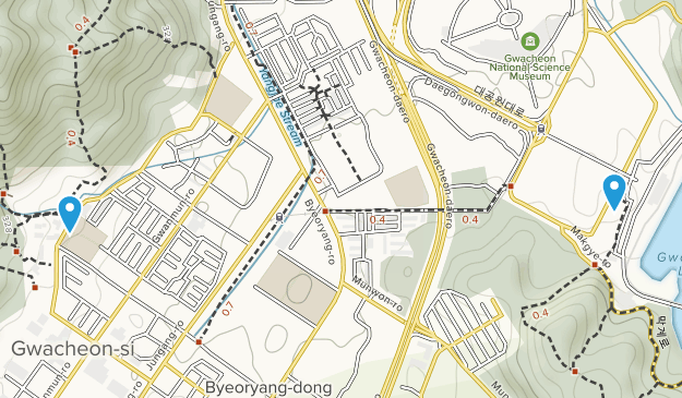 Gwacheon-si, Gyeonggi-do Map