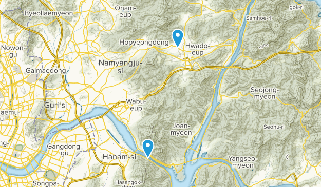 Namyangju-si, Gyeonggi-do Map