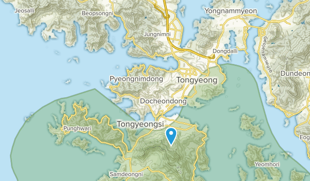 Tongyeong-si, Gyeongsangnam-do Map