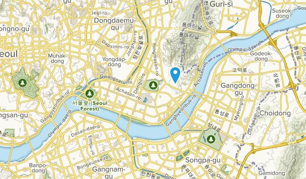 Gwangjin-gu, Seoul Map