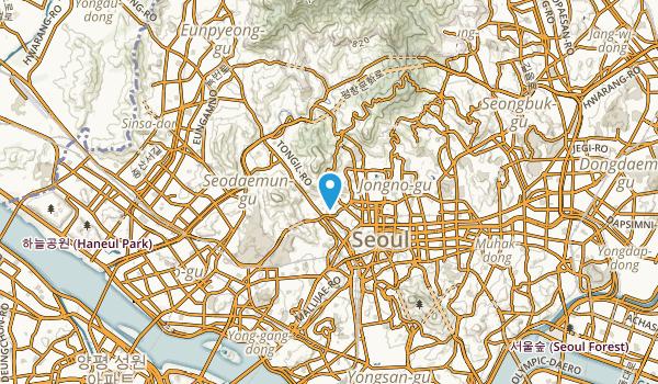 Muak-tong, Seoul Map