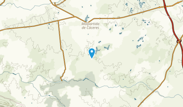 Carceres, Spain Map