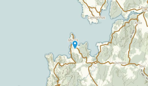 Muxía, A Coruña Map