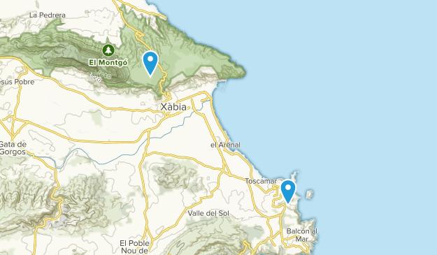 Costa Nova, Alicante/Alacant Map