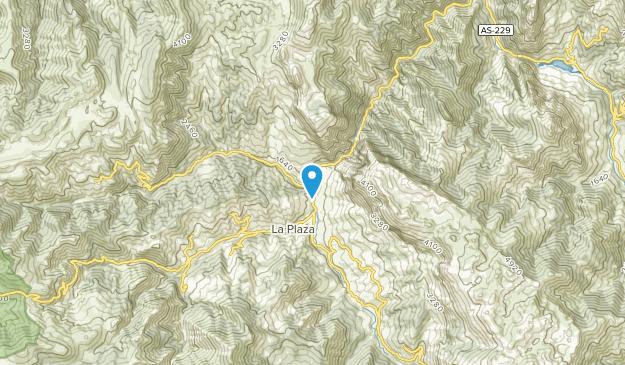 Entrago, Asturias Map