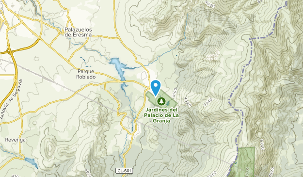 Real Sitio De San Ildefonso, Castile and León Map