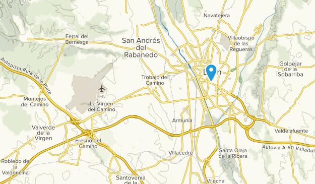 Valverde de la Virgen, Castile and León Map