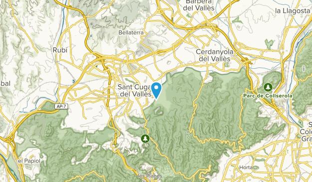Sant Cugat del Vallès, Catalonia Map