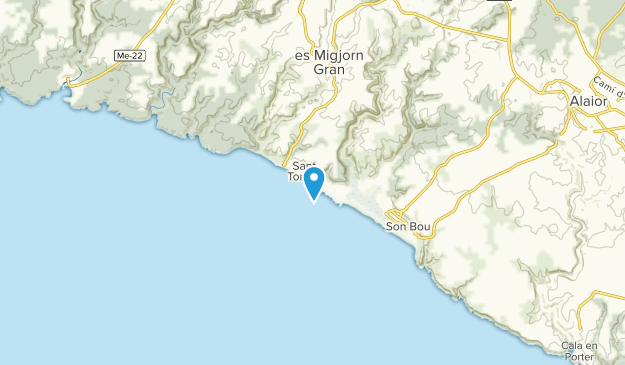 Es Migjorn Gran, Illes Balears Map
