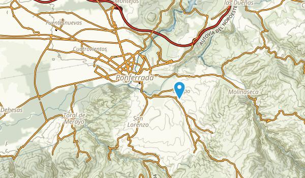 Ponferrada, León Map