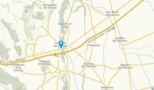Santa Marina del Rey, León Map