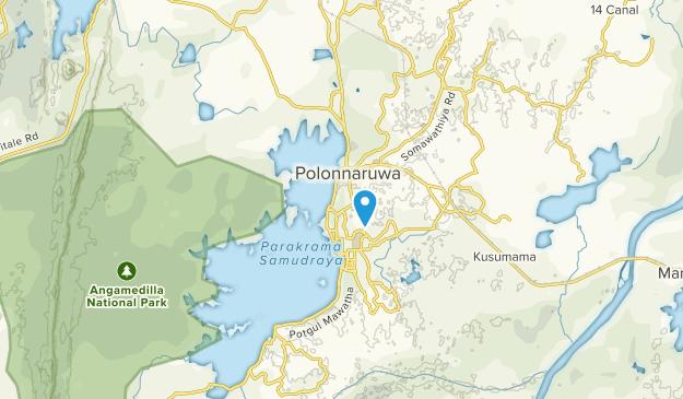Polonnaruwa, Pŏḷŏnnaruva Map