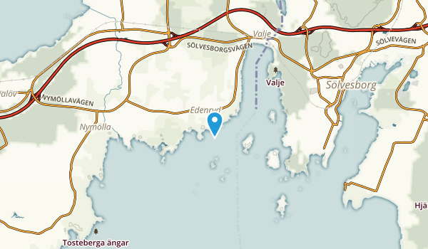 Edenryd, Skåne Map