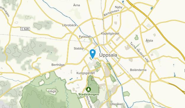 Uppsala domkyrkoförs., Uppsala Map
