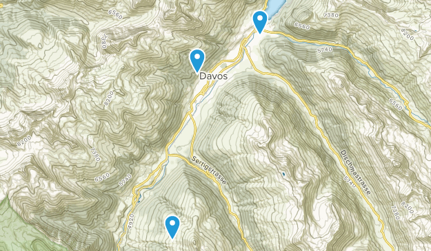 Davos, Grisons Map