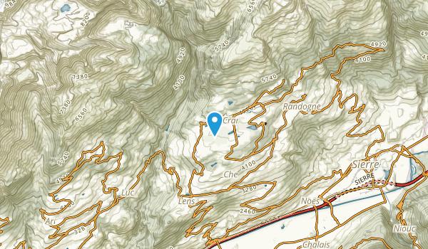 Plans Mayens, Valais Map