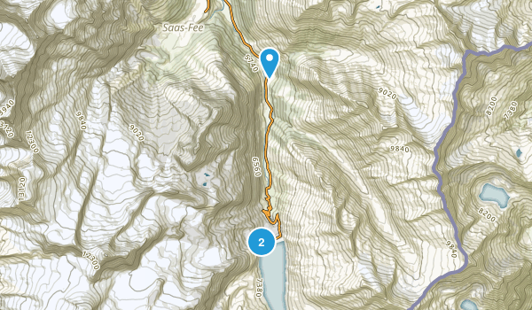 Saas-Almagell, Valais Map