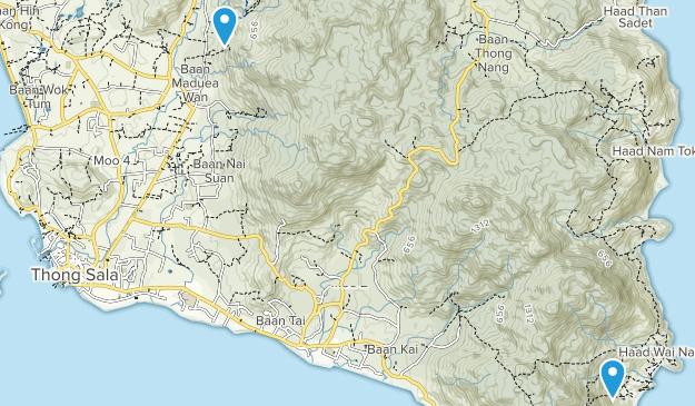Ko Pha-Ngan, Surat Thani Map